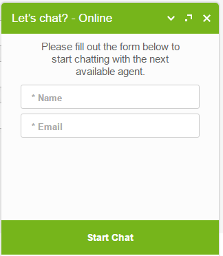 un esempio della finestra di interazione di una live-chat