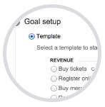 Google Analytics: creare un obiettivo, scelta del tipo obiettivo
