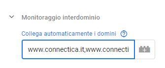 Google Tag Manager - Monitoraggio inter-dominio