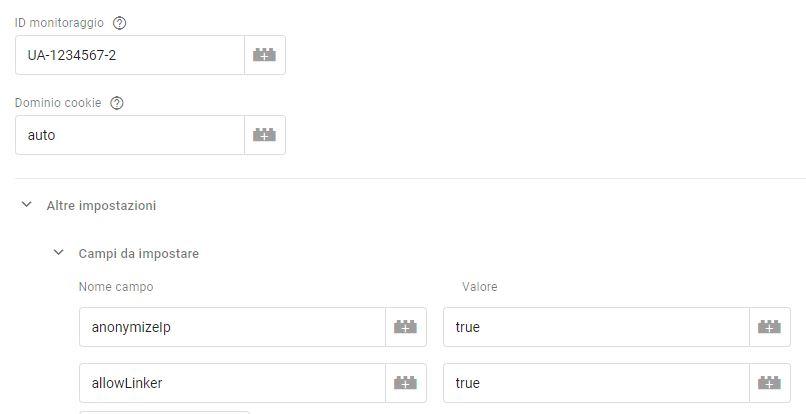 Google Tag Manager, impostare tracciamento multi-dominio