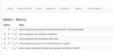 Posizionamento sito mono-pagina: l'area di amministrazione del sito