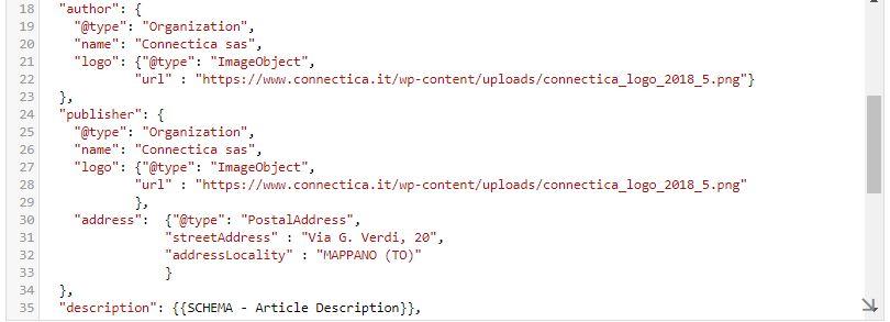 Tag Manager - Tag per snippet di dati strutturati per pagine blog - 02