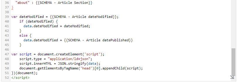 Tag Manager - Tag per snippet di dati strutturati per pagine blog - 03